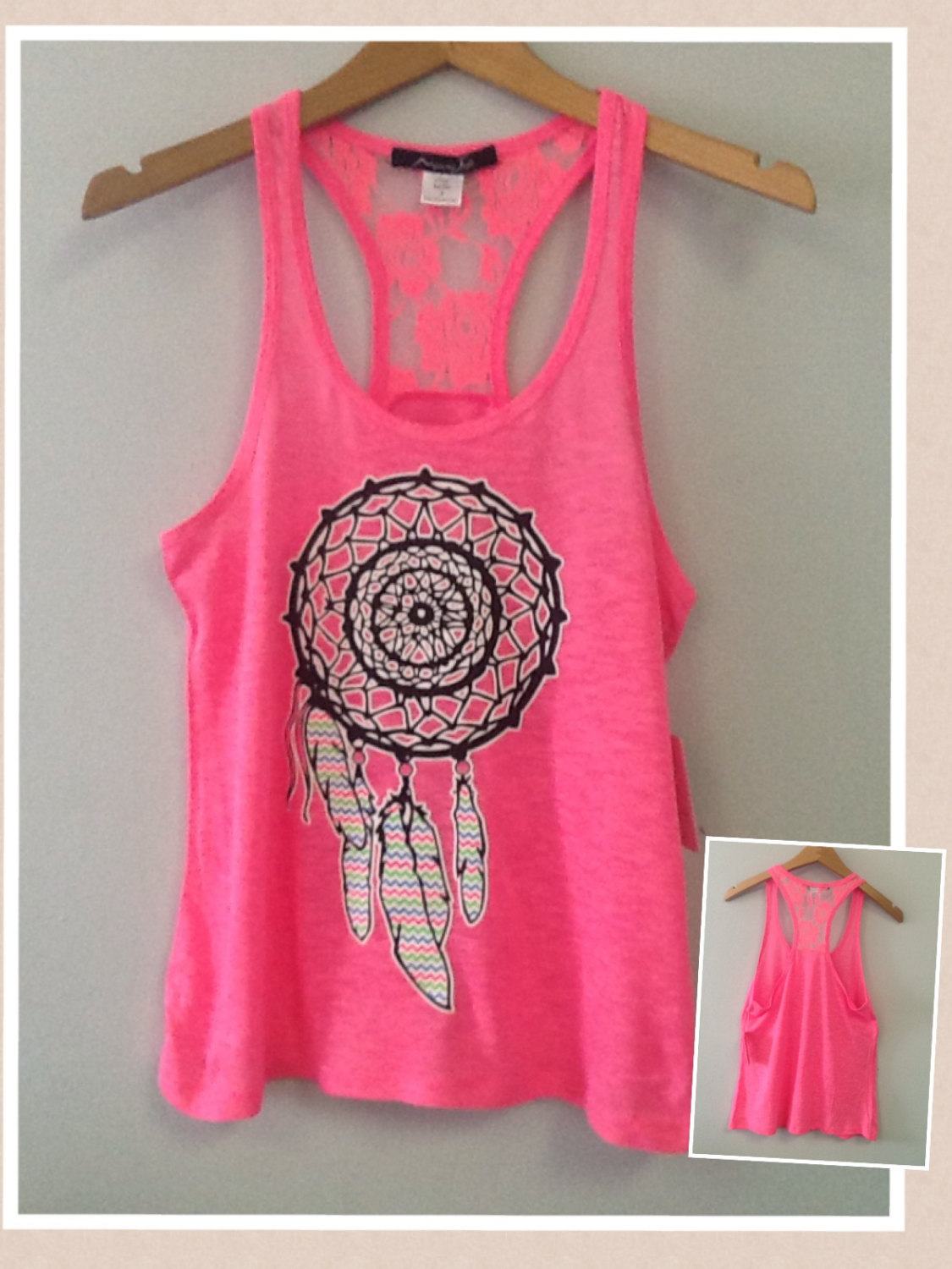 Racer Tank w/ Laced Back -  Dream Catcher