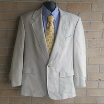 Jack Nicklaus Tournament Series Men 42r Cream Sport Coat Blazer Jacket - $27.72