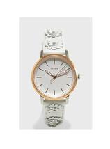 New Fossil Women Neely White Leather Strap Watch & Heart Earring Set ES4383 - $73.94