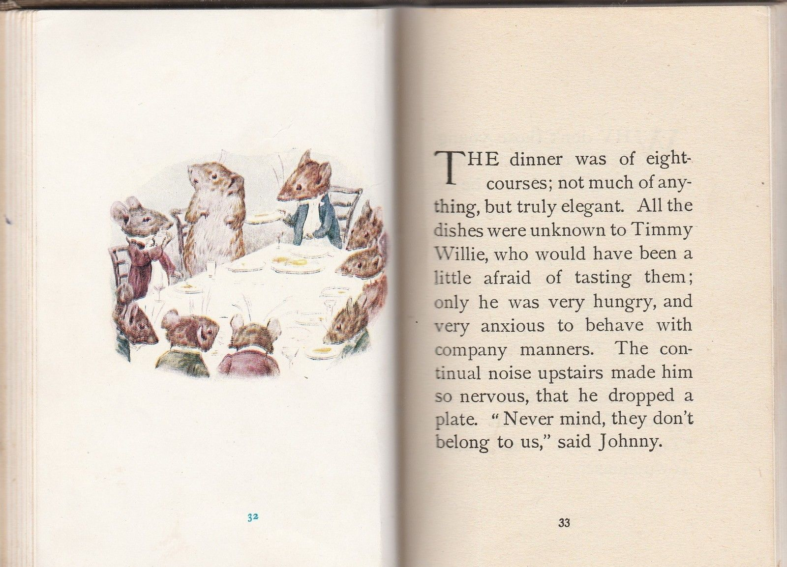 The Tale of Johnny Town Mouse by Beatrix Potter 1918 Frederick Warne and Co.