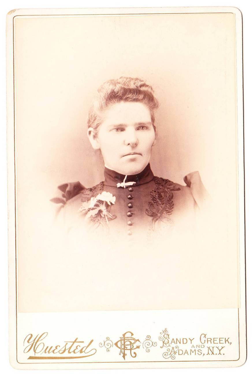 Antique Cabinet Card Photo Woman Sandy Creek  Adams NY