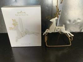 Hallmark Keepake Ornament Dash Away, All Porcelain & Metal 2012 - $7.50