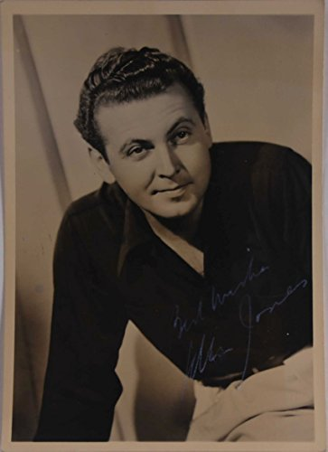 Primary image for Allan Jones (d. 1992) Signed Autographed Vintage 5x7 Photo - COA Matching Hologr