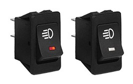 Sdootauto 2 Pcs Fog Light Toggle Rocker Switch 12V 35A 4 Pin On-Off LED Light Bl