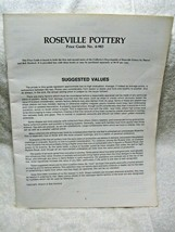Vintage Collectible ROSEVILLE POTTERY Price Guide No. 4-983 Sharon & Bob Huxford - $9.95