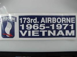 Decal/Bumper Sticker-173rd. AIRBORNE-Vietnam-1965-1971 - $8.32