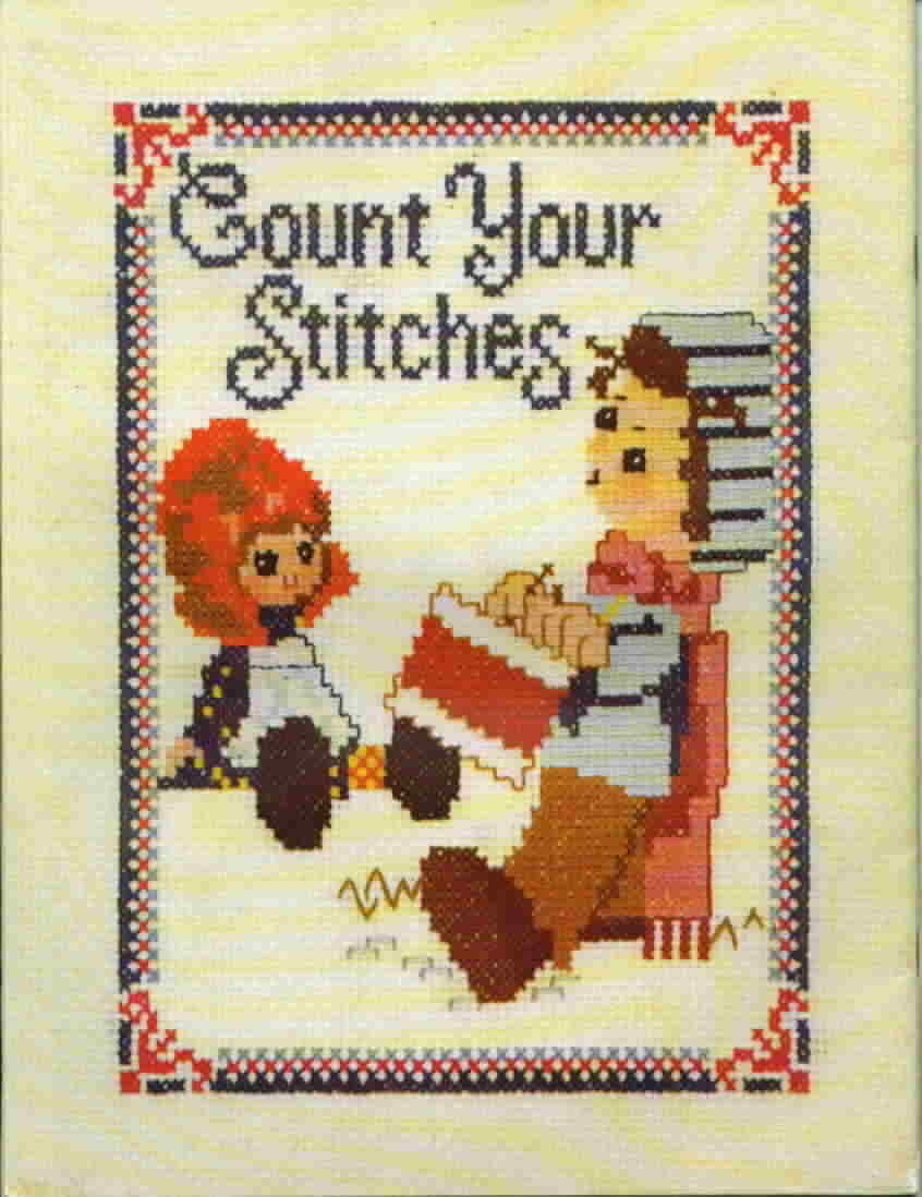 Vintage Zims Creative Craft Book Count Your Stitches Cross Stitch