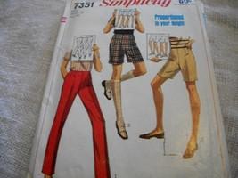 Misses' Pants & Shorts Pattern Simplicity 7351 - $5.00