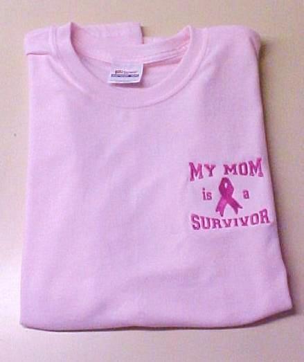 Pink Ribbon Sweatshirt S Awareness My Mom is a Survivor Crew Neck Cancer New