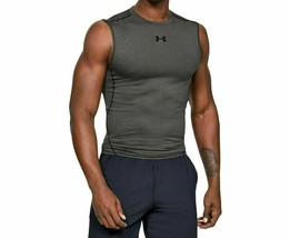 Under Armour Men's Heatgear Compression Sleeveless NEW AUTHENTIC Grey125... - $24.99