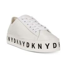 Dkny Banson White Platform Black Logo Letters Sneakers Shoes Wms Nwot Disc Vhtf - $86.99