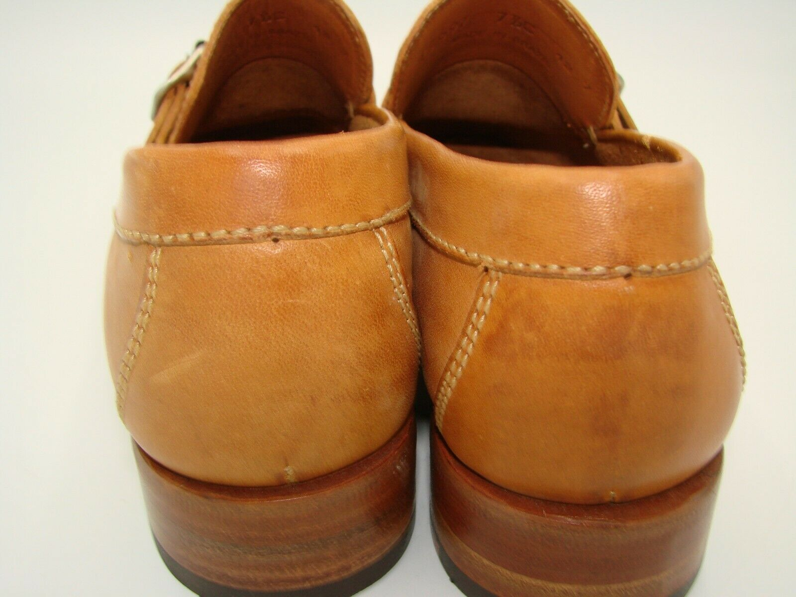 NWOB Women's Cole Haan Slip-on Tan Leather/Buckle Loafers, Mini stacked heel