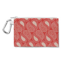 Paisley In Red Canvas Zip Pouch - $15.99+