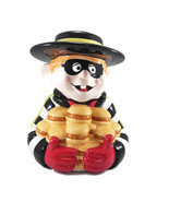 Hamburglar Cookie Jar Treasure Craft  Original Box Vintage McDonald's - $222.75