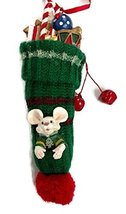 Chrismouse in Knit Stocking Ornament (Green) - $20.00