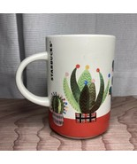 Starbucks Holiday Cactus Mug Christmas Lights 2017 12 oz Coffee Cup Dese... - $24.74