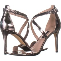 Nine West Mydebut Dress Heel Sandals 991, Pewter, 8.5 US - $28.79