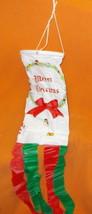 Regent Products White Plastic Holiday Windsock #G3082W UPC:021003030825 - $6.68
