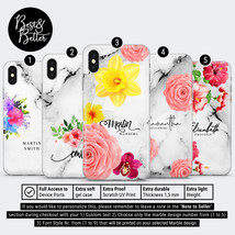 Personalised phone case marble custom name cover for iPhone Samsung Huaw... - $9.99