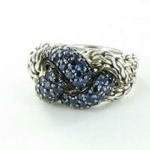 John Hardy Classic Chain Lava Small Braided Blue Sapphire Ring Sz 7 New ... - $809.95