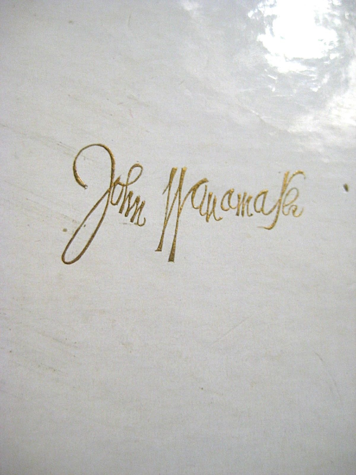 Large Vintage CORO Brooch Gold tone Flower in Original John Wanamaker Box Tags image 7