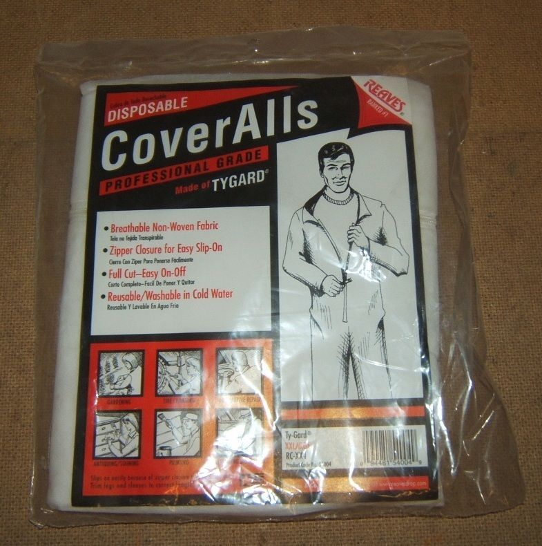 Reaves Disposable Coveralls XXLarge Reusable Washable 54004 RC-XX4 Ty-Gard