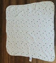 Just Born White Pink Green Purple Brown Polka Dot Thermal Baby Girl Blanket - $39.59