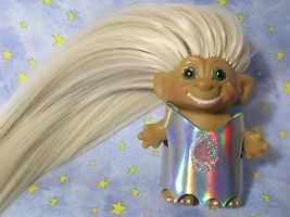 SMILING ROOTIE 3-IN Custom Troll Doll rooted vintage 60s Martian Moon Wand Alien image 5