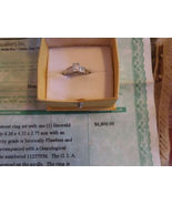 Diamond Ring Platinum Emerald Cut  Certified Internally Flawless Engagem... - $3,900.00