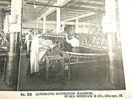 Vintage Stereoscope Card Sears & Roebuck #35 Automatic Gathering Machine - $4.89