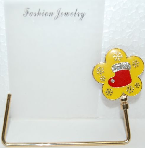 Fashion Jewelry HH11262 Golden Purse Holder Yellow Flower Shaped  Red Stocking