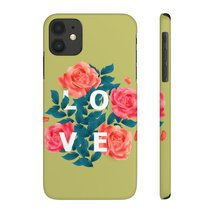 Love In Roses Amore Valentine's Day Trend Color 2020 Olive Green Case Ma... - $24.65