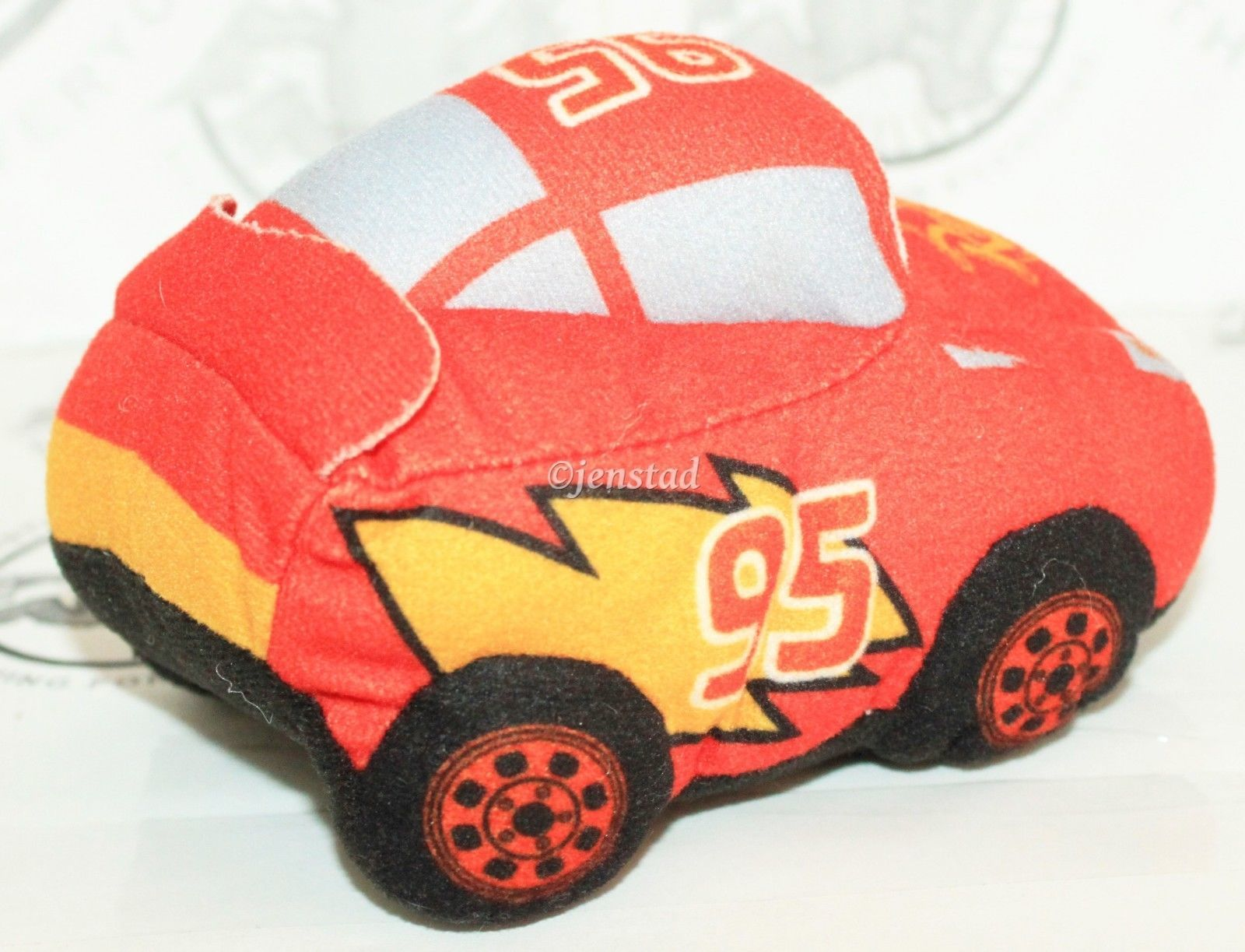 "CARS LIGHTNING MCQUEEN - SMALL PLUSH TOY FIGURE 5"" DISNEY PIXAR USED 2009"