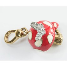 Juicy Couture Crystal Enamel Butterfly Mushroom FULL SIZE Bracelet Charm... - $44.06
