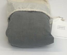 Restoration Hardware Garment-Dyed Linen Sham Euro 100% Linen Graphite NEW $119 - $42.99