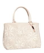 Oscar de La Renta Floral Lace Canvas Handbag - $34.95
