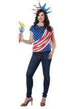 California Costume Miss Independence USA America Womens Halloween costum... - $25.59