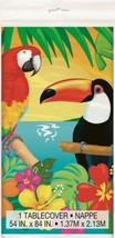 "Tropical Island Luau Party Plastic Tablecover 54"" x 84"" Parrot - $5.79"