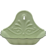 Retro Green Enamel Soap Dish Farmhouse Bath Decor  - $27.00