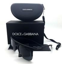 Dolce & Gabbana Authentic Black Rubber Matte Men Sunglasses DG6098 2616 ... - $58.17