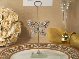 Silver Butterfly Place Card Holder, 20 - €30,66 EUR