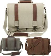 Heavy Duty Pathfinder Leather Deluxe Large Laptop Shoulder School Colleg... - $49.99