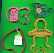 Plastic Cookie Cutters Lot F  - $5.00