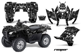 Atv Graphics Kit Decal Sticker Wrap For Honda Rancher At 2007-2013 Reaper Black - $168.25