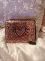 Coach NWT Glitter Multi-Color Small Wallet (F55639) - $63.25