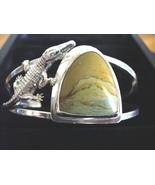 Shanrocks SS Picture Jasper & Croc Cuff Bracelet - $120.00