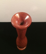 "Vintage 60s Turned Wood vase/weedpot - 9"" tall image 4"