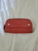 FOSSIL Zip Around Pebbled Leather Wallet Clutch Pink image 2