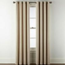 (1) Jcp Liz Claiborne Holland Linen Natural 100% Blackout Grommet 50x84 Curtain - $45.95
