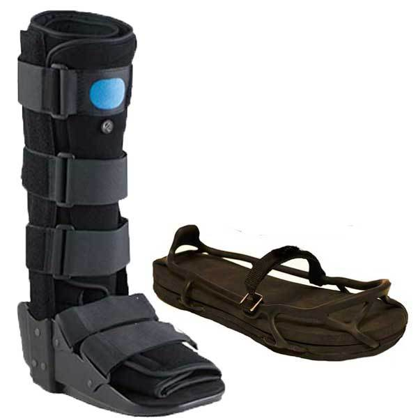 Advanced Ortho Tall Walker Boot Blue w/Evenup - W14/M13.5